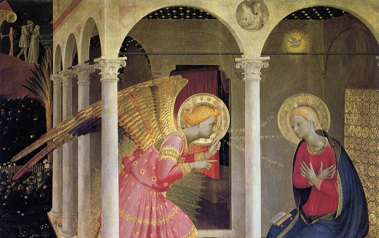 analysis of fra angelicos annunciation From art history 101, fra angelico, the annunciation, north corridor, monastery of san marco (ca 1438-45), fresco, 230 × 297 cm.