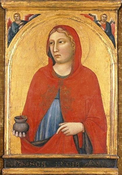 419px-'St-1._Lucy',_painting_by_Jacopo_del_Casentino_and_assistant,_c._1330,_El_Paso_Museum_of_Art