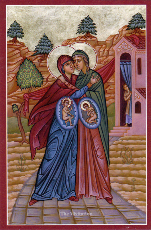 The Visitation of Mary to Elizabeth's Home – A Sacred Image of the Preborn  – The Fra Angelico Institute for Sacred Art