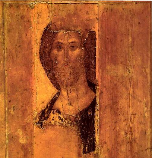 Christ-Pantocrator.-Andrei-Rublev.-1410-1420s.-The-central-part-of-the-iconographic-Deesis-of-Zvenigorod.-Moscow-The-State-Tretyakov-Gallery